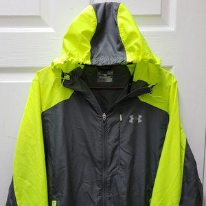 Under Armour Fitted Hood Wind breaker Jacket Small